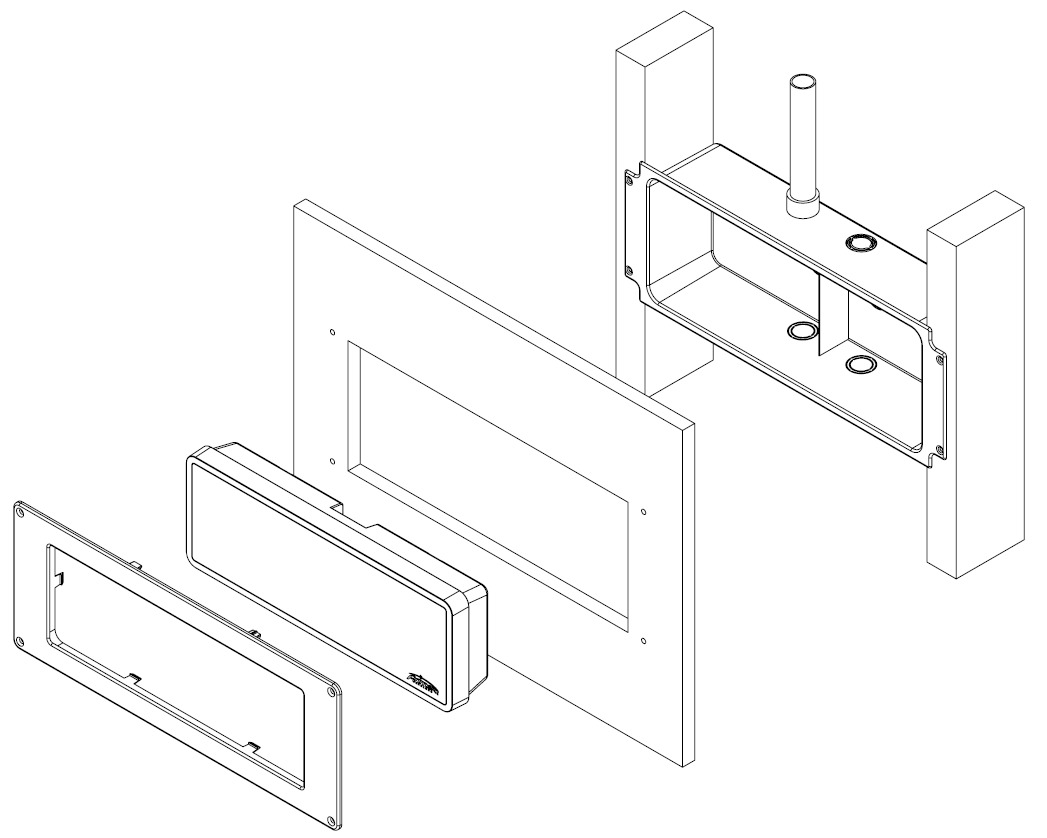 New wall surface assembly illustration