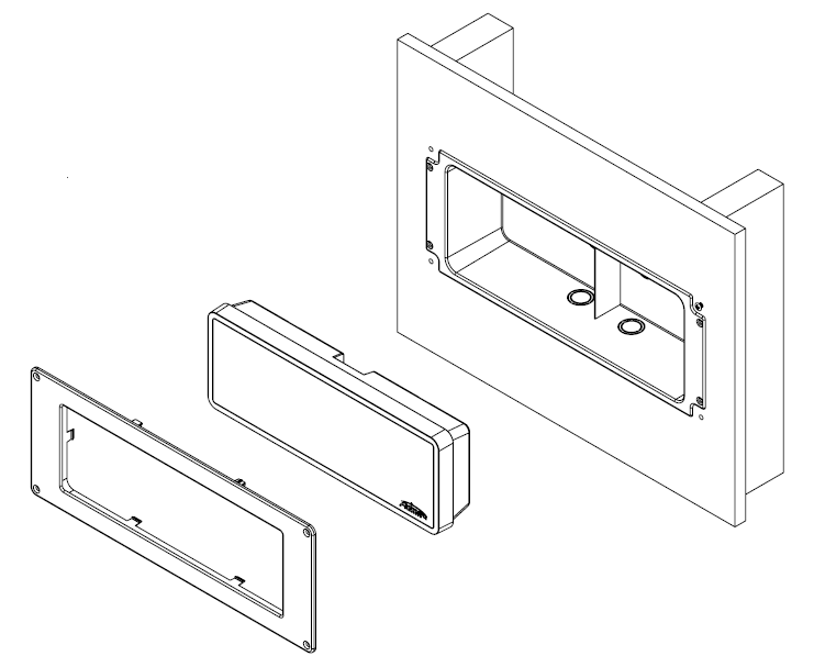Existing wall surface assembly illustration